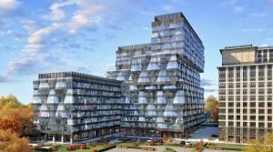 Офисное здание в МФК «Искра-Парк» получит фасад с «бриллиантовой»...