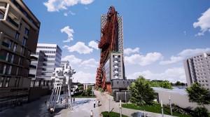 В Праге построят высотку в стиле пост-апокалипсис